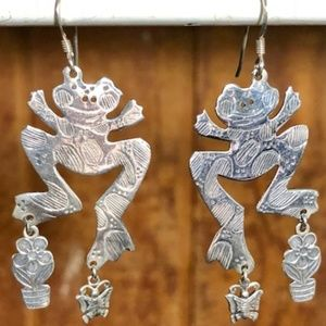 Jewelry - Fabulous Sterling Silver Froggies!